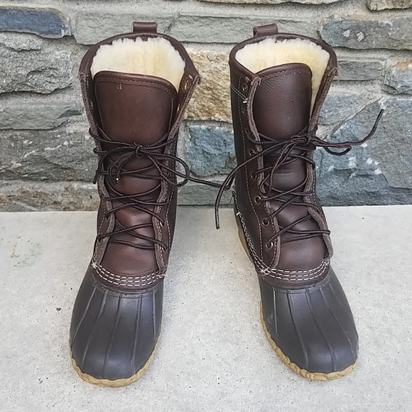 Llbean Shearling Lined Duck Boots
